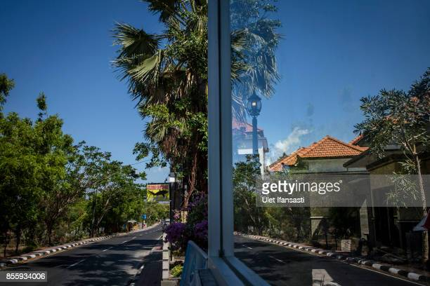 KARANGASEM BALI INDONESIA SEPTEMBER 30 A view of empty road at Tulamben beach as emptied of tourists on September 30 2017 in Karangasem regency...