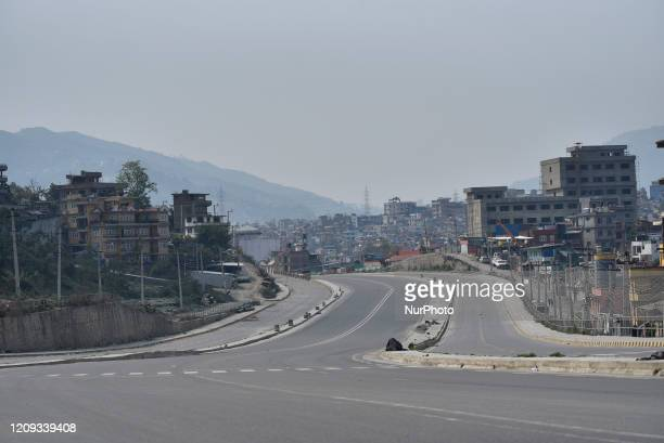 View of empty Road highway during the complete nationwide lockdown as concerns about the spread of Corona Virus at Kathmandu, Nepal on Monday, April...