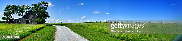 View of Empty Road In Rural Landscape