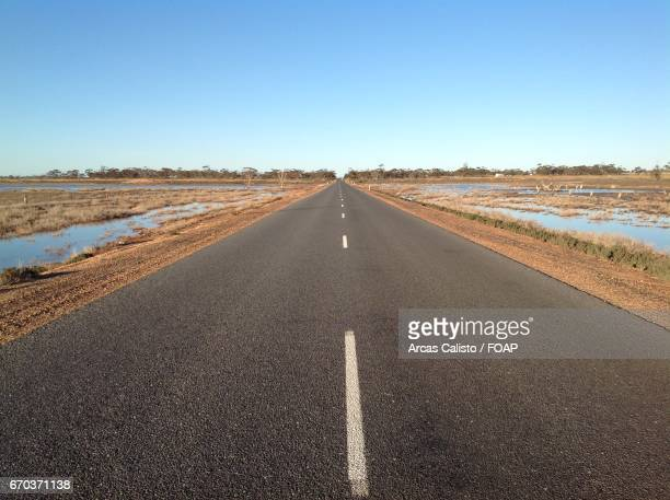 View of empty road