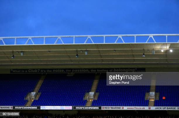 A view of empty seats during the Emirates FA Cup third round match between Ipswich Town and Sheffield United at Portman Road on January 6 2018 in...