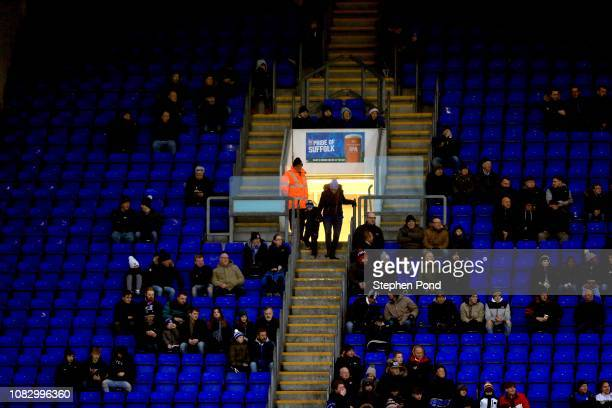 A view of empty seats in the stadium during the Sky Bet Championship match between Ipswich Town and Wigan Athletic at Portman Road on December 15...