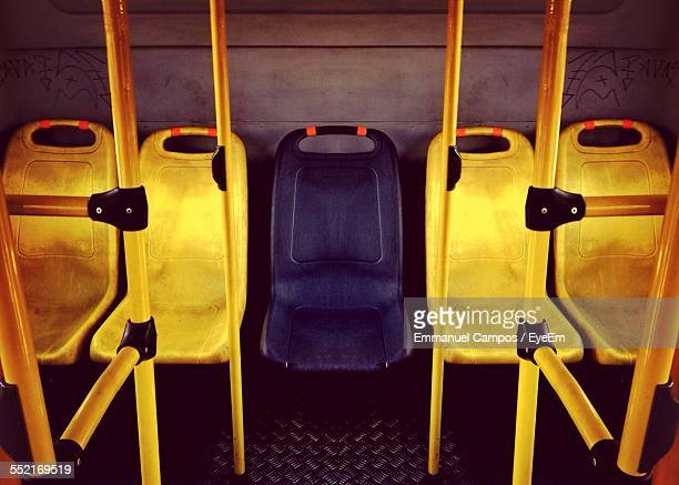 View Of Empty Seats On Bus