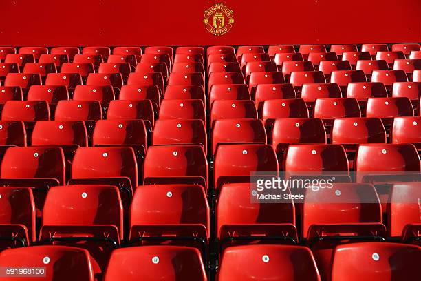 A view of empty seats prior to the Premier League match between Manchester United and Southampton at Old Trafford on August 19 2016 in Manchester...