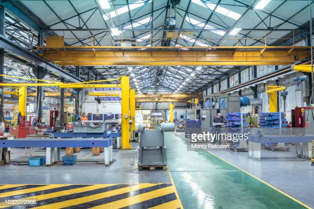 view of engineering factory making gearboxes - plant stock pictures, royalty-free photos & images