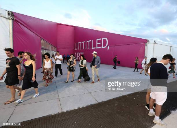 View of entrance at Untitled Art as part of the 2018 Art Basel Miami Beach on December 8 2018 in Miami Beach Florida