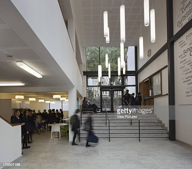 View of entrance foyer with stairway and glazing Colston's Girls' School School Europe United Kingdom Avon Walters and Cohen Ltd
