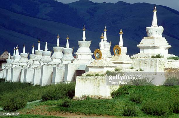View of Erdenezuu monastery the country's largest monastery with a 400meter side wall Since the 'soft revolution' was launched in 1990 Mongolia is...