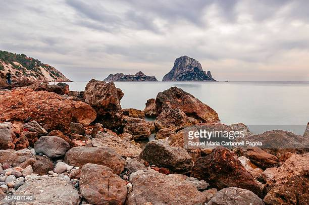 View of Es Vedrá islet from Cala D´Hort beach