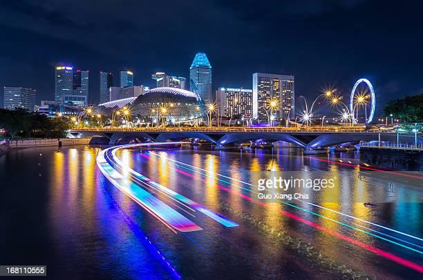View of Esplanade and Clarke Quay, Singapore