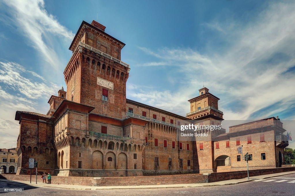 View of Este castle of Ferrara : Stock Photo