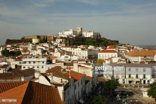 View of Estremoz with royal palace at the top