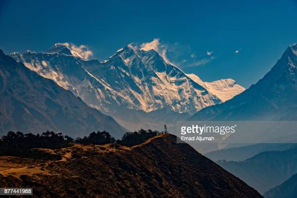 View of Everest and Lhotse, Nepal - April 26, 2016