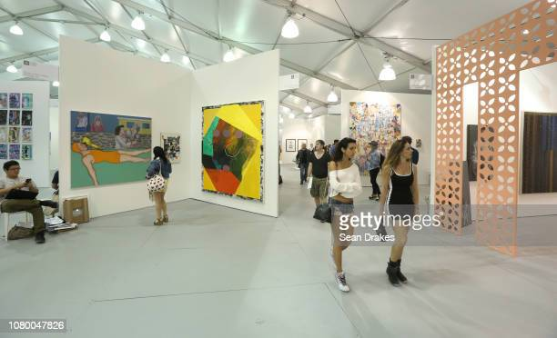 View of exhibitions at Untitled Art as part of the 2018 Art Basel Miami Beach on December 8 2018 in Miami Beach Florida