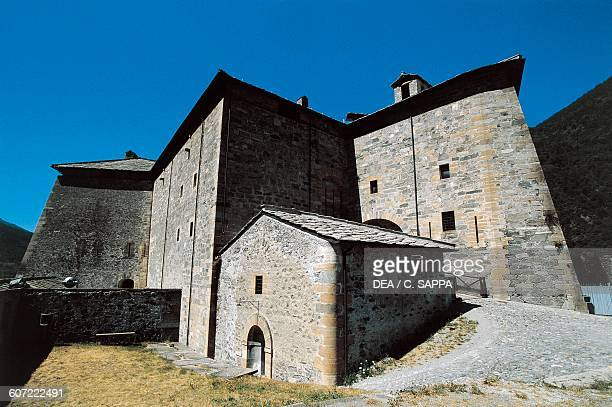 View of Exilles Fort Susa Valley Piedmont Italy 14th19th century