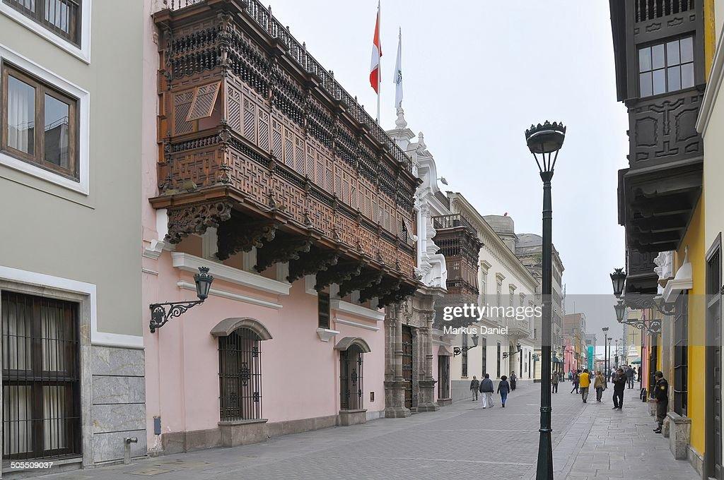 Torre Tagle Palace in Lima, Peru : News Photo