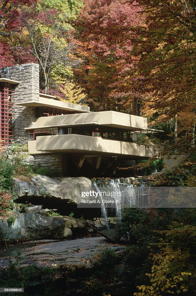 Exterior View of Fallingwater Pictures | Getty Images