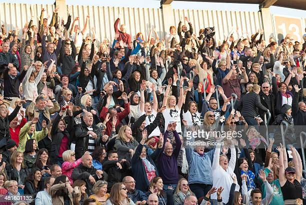 A view of fans at the Lionel Richie performance at Edinburgh Castle on July 22 2015 in Edinburgh United Kingdom