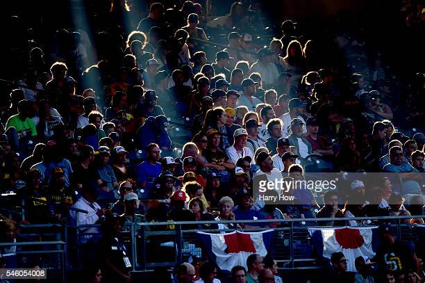 View of fans watching the game during the SiriusXM All-Star Futures Game at PETCO Park on July 10, 2016 in San Diego, California.
