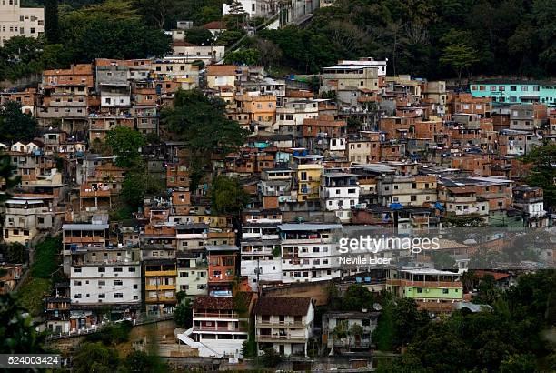 View of Favela near Santa Teresa Rio De Janeiro Brazil