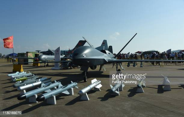 A view of Fengying military drone at the air show in Zhuhai in south China's Guangdong province Wednesday Nov 07 2018