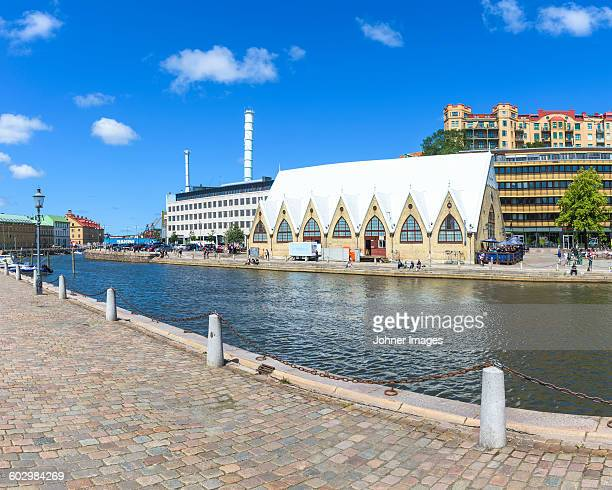 view of feskekorka, gothenburg, sweden - gothenburg stock pictures, royalty-free photos & images