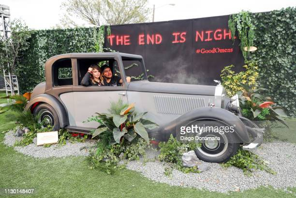View of festivalgoers enjoying Amazon Prime Video's 'Good Omens Garden of Earthly Delights' activation during the 2019 SXSW Conference and Festivals...