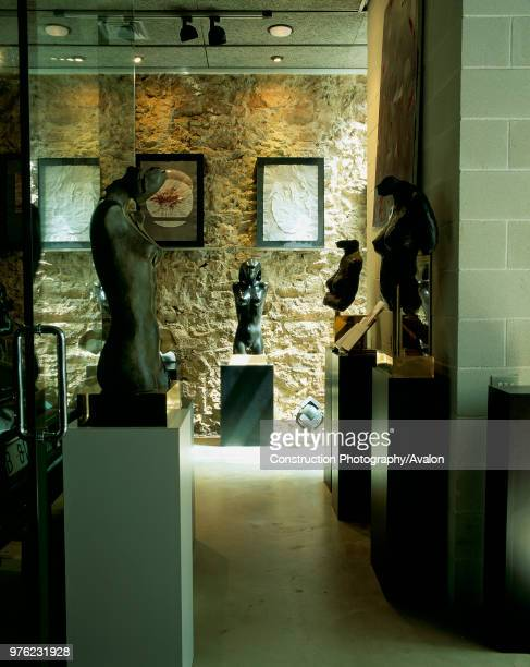 View of few sculptures displayed in a shop