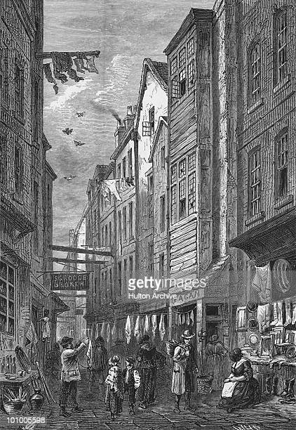 A view of Field Lane Clerkenwell London circa 1840 The street was known as a centre for 'fences' or receivers of stolen property and the area was the...