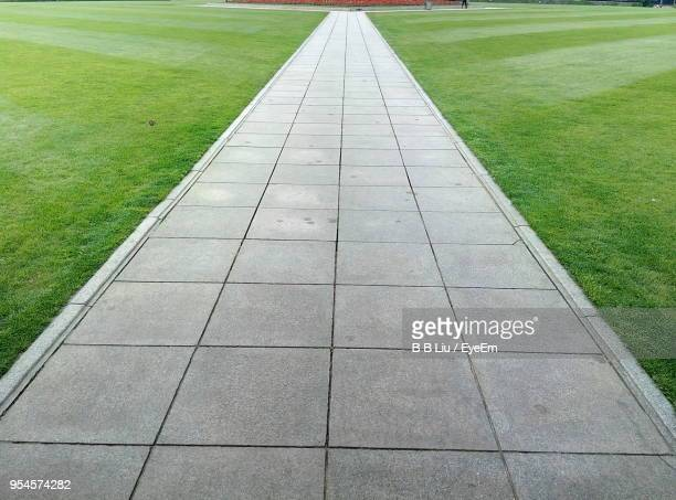 view of field - pedestrian walkway stock pictures, royalty-free photos & images