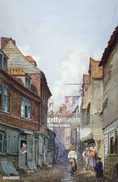 View of figures in Glean Alley Bermondsey London c1825