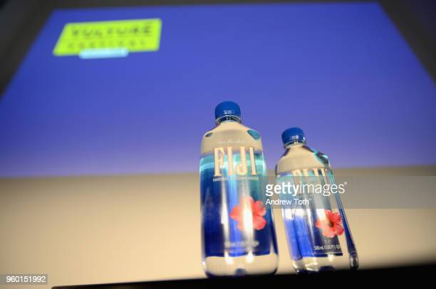 A view of Fiji water bottles on set during Vulture Festival Presented By ATT Queery at Milk Studios on May 19 2018 in New York City