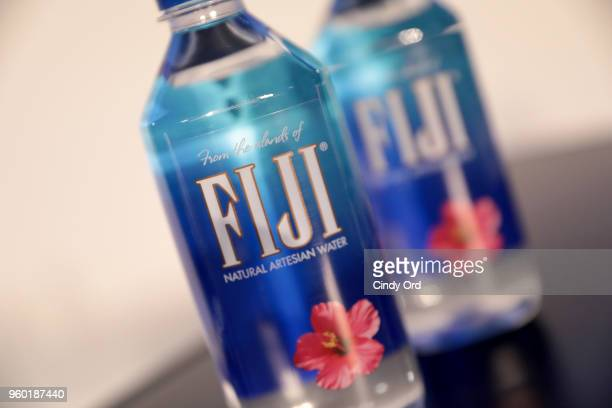 A view of Fiji water bottles on set during Vulture Festival Presented By ATT Dish with the Cast of Starz's Sweetbitter at Milk Studios on May 19 2018...