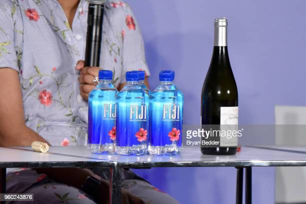 A view of Fiji water bottles onstage at Vulture Festival Presented By ATT at Milk Studios on May 19 2018 in New York City