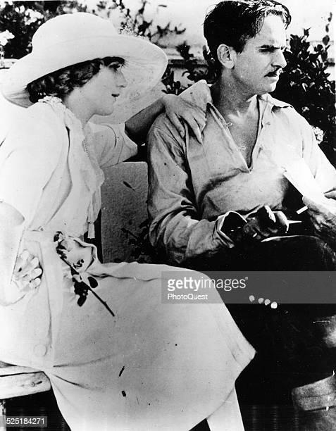 View of film actors Mary Pickford and Douglas Fairbanks Sr, circa 1915.