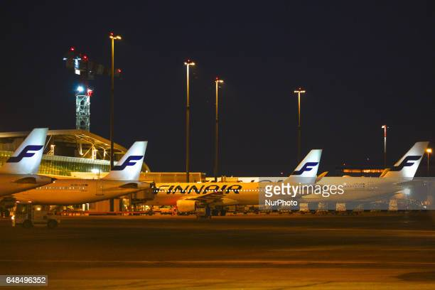 A view of Finnair planes docked at HelsinkiVantaa Airport Finnairs customers should prepare for flight delays today on Monday March 6 due to a labour...