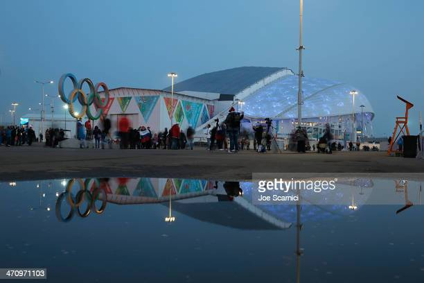 A view of Fisht Stadium in the Olympic Village during the 2014 Sochi Winter Olympics on February 21 2014 in Sochi Russia