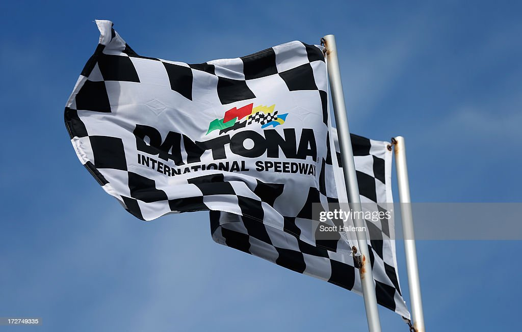 A view of flags during practice for the NASCAR Sprint Cup Series Coke Zero 400 at Daytona International Speedway on July 4, 2013 in Daytona Beach, Florida.