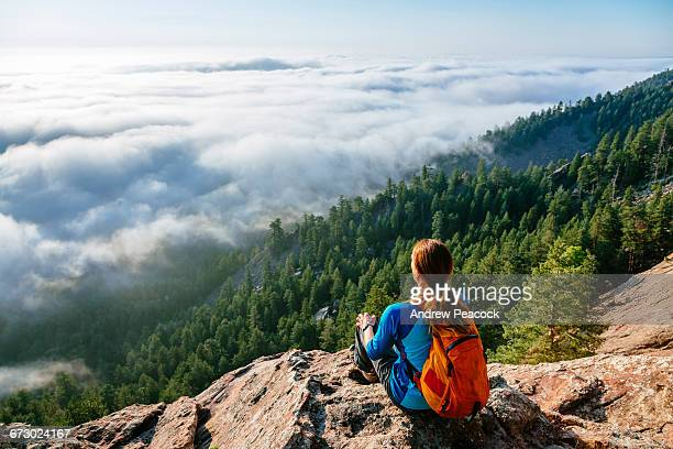 view of flatirons near boulder - boulder colorado stock pictures, royalty-free photos & images