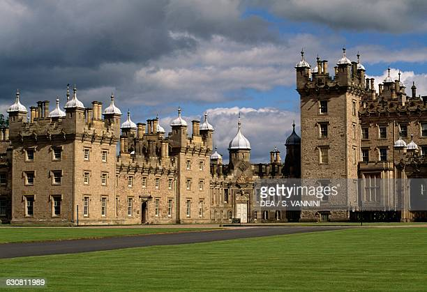 View of Floors Castle, by William Adam and William Henry Playfair , near Kelso, Roxburghshire. Scotland. United Kingdom, 18th-19th century.