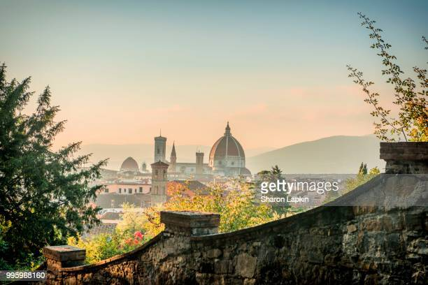 view of florence at twilight - florence italy stock pictures, royalty-free photos & images