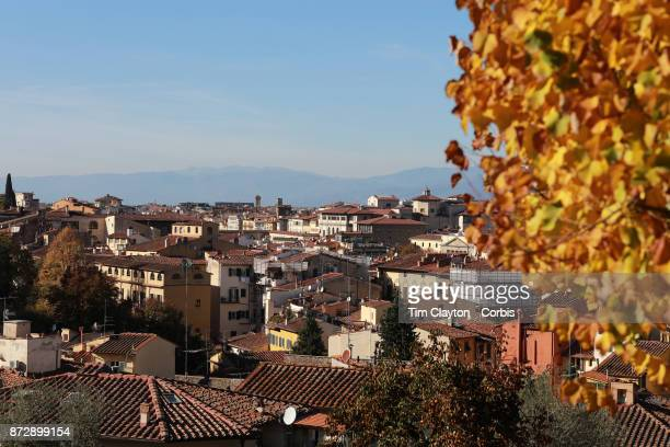 A view of Florence from the Giardino delle Rose below the Piazzale Michelangelo in Florence Italy 1st November 2017 Photo by Tim Clayton/Corbis via...