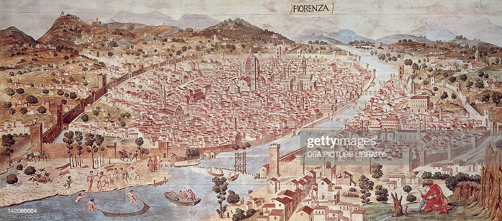 View of Florence, or of Catena, ca 1471-1482, attributed to Francesco di Lorenzo Rosselli (ca 1445-1513), Italy 15th Century