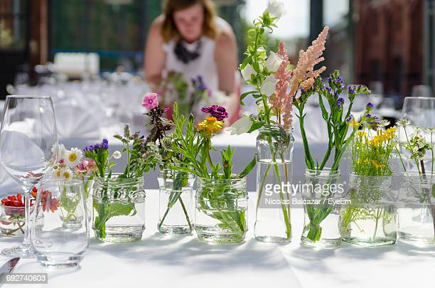 View Of Flower Pot On Table