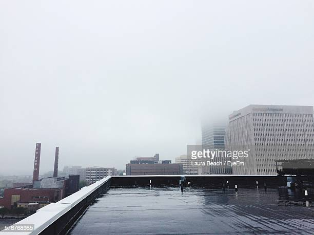 view of fog from roof - winston salem stock pictures, royalty-free photos & images