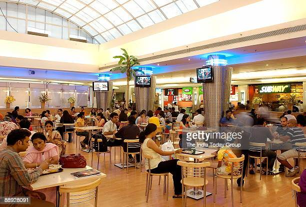 A view of Food Court at INORBIT MALL in Mumbai's suburb Malad India