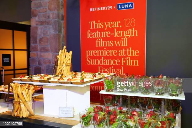 View of food on display at the 2020 Women at Sundance Celebration hosted by Sundance Institute and Refinery29, Presented by LUNA at Juniper at...
