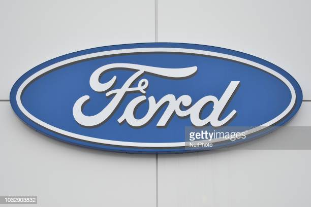 A view of Ford logo in South Edmonton Common a retail power centre located in Edmonton Alberta On Tuesday September 11 in Edmonton Alberta Canada