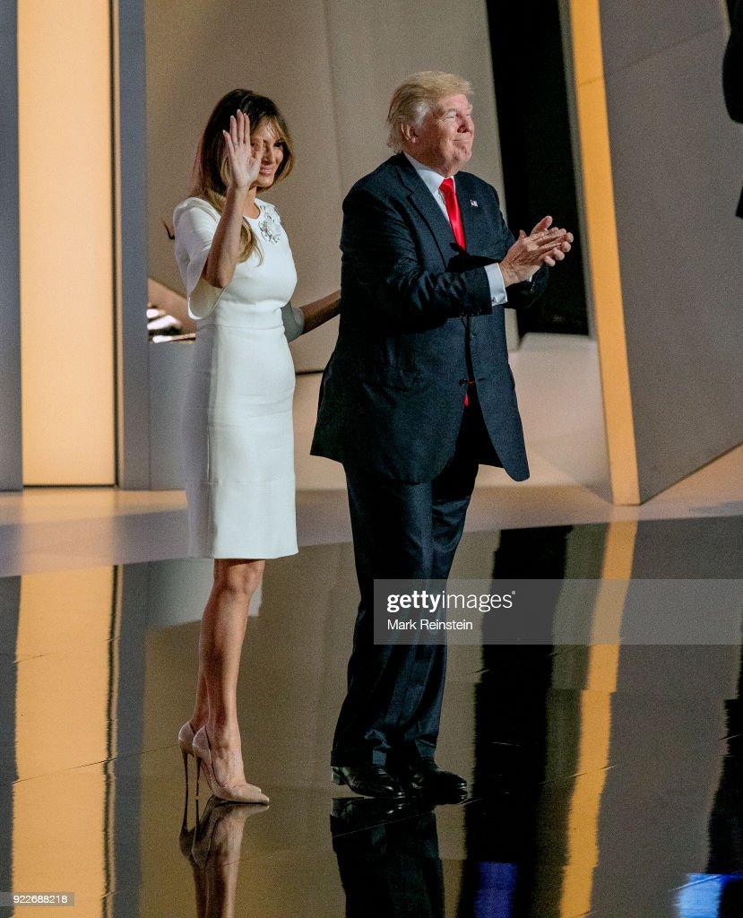 Melania & Donald Trump At RNC : Foto di attualità