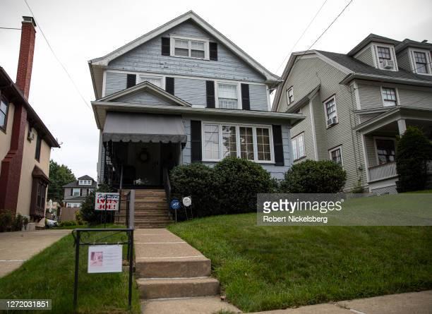 View of former Vice President Joe Biden's childhood house September 11, 2020 in Scranton, Pennsylvania. Former Vice President Biden is the Democratic...